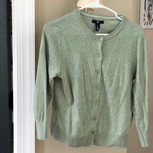 GAP Light Green Cropped Sleeve Cardigan